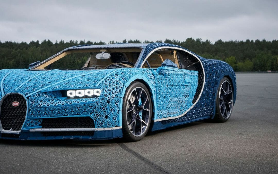 LEGO Builds A Bugatti Chiron and then they drive it!